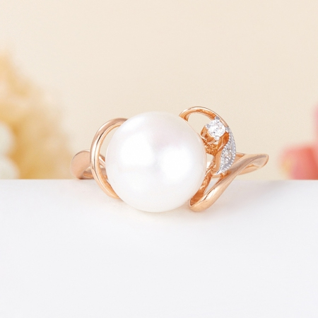 Кольцо жемчуг белый  (серебро 925 пр., позолота) размер 20Жемчуг<br>Кольцо жемчуг белый  (серебро 925 пр., позолота) размер 20<br><br>kit: None