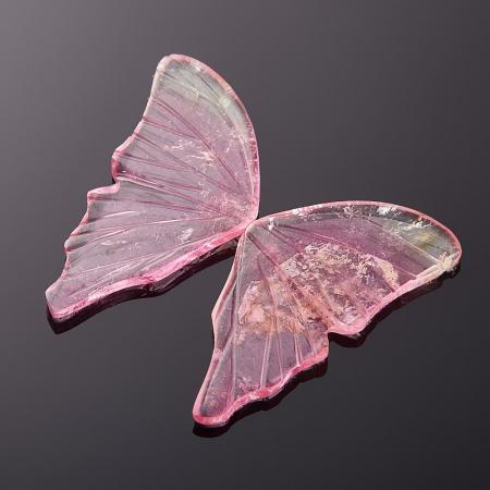 Комплект вставок турмалин розовый  8*17 мм (2 шт)