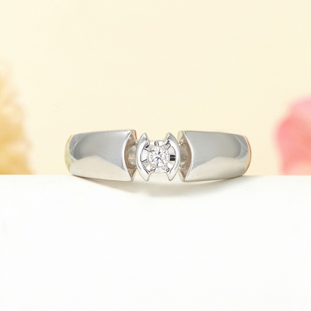 Кольцо бриллиант  огранка (серебро 925 пр.) размер 18,5