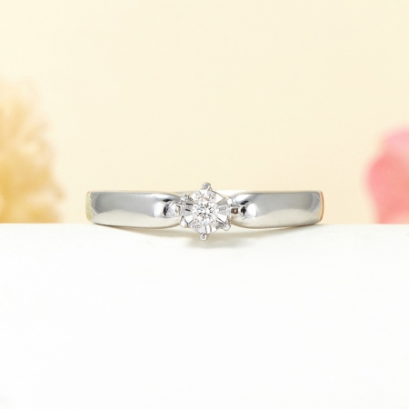 Кольцо бриллиант  огранка (серебро 925 пр.) размер 17