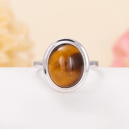 Кольцо тигровый глаз  (серебро 925 пр.) размер 18Тигровый глаз<br>Кольцо тигровый глаз  (серебро 925 пр.) размер 18<br><br>kit: None
