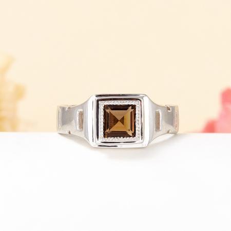 Кольцо раухтопаз  огранка (серебро 925 пр.) размер 20