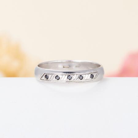 Кольцо бриллиант  огранка (обручальное) (серебро 925 пр.) размер 18