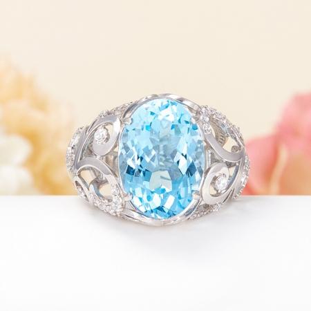 Кольцо топаз голубой  огранка (серебро 925 пр.) размер 18Топаз<br>Кольцо топаз голубой  огранка (серебро 925 пр.) размер 18<br><br>kit: None
