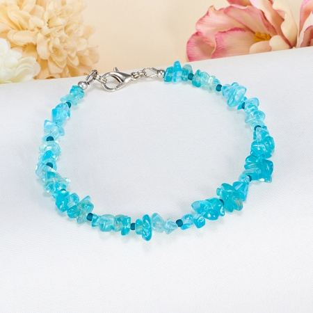 Браслет апатит голубой  18 cм от Mineralmarket