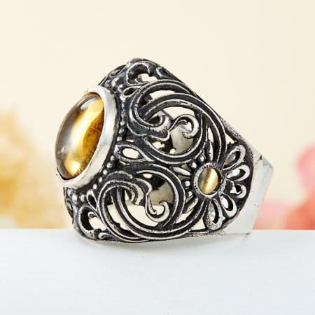 Кольцо цитрин  (серебро 925 пр.) размер 19,5