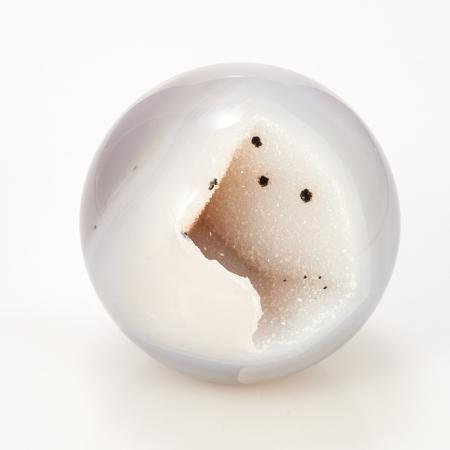 Уникальный шар жеода агат серый  5 см