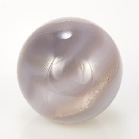 Уникальный шар жеода агат серый  6 см