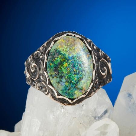 Кольцо опал благородный  (серебро 925 пр.) размер 16,5Опал<br>Кольцо опал благородный  (серебро 925 пр.) размер 16,5<br><br>kit: None