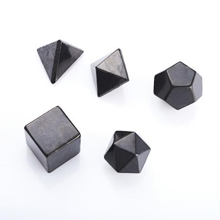Набор платоновы тела шунгитКоллекции из камней<br>Набор платоновы тела шунгит<br><br>kit: None