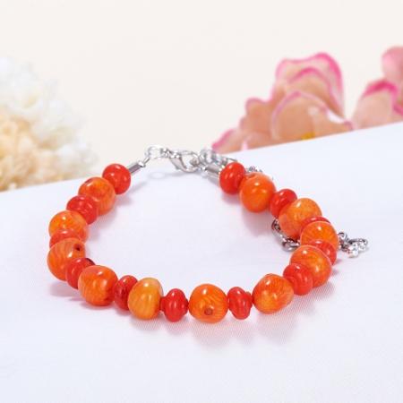 Браслет коралл оранжевый  16-21 cмКоралл<br>Браслет коралл оранжевый  16-21 cм<br><br>kit: None