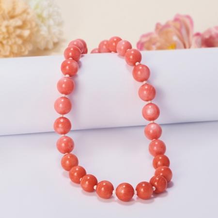Бусы коралл оранжевый, розовый  49-59 см