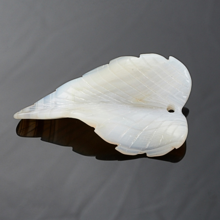 Пуговица агат серый  4,5 см