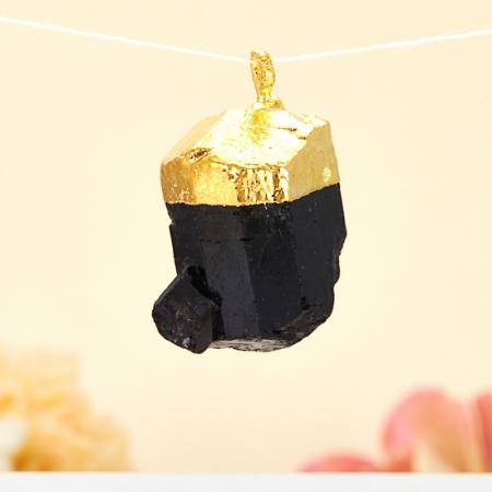 Кулон турмалин черный (шерл)