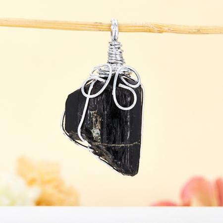 Кулон турмалин черный (шерл)Турмалин<br>Кулон турмалин черный (шерл)<br><br>kit: None