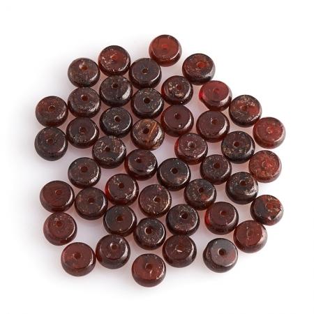 Бусина гранат альмандин  сплюснутый шар 6 мм (1 шт)Гранат<br>Бусина гранат альмандин  сплюснутый шар 6 мм (1 шт)<br><br>kit: None