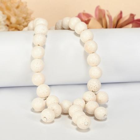 Бусы коралл белый  10 мм 55-65 см