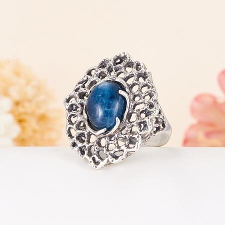 Кольцо апатит синий  (серебро 925 пр.) размер 18Апатит<br>Кольцо апатит синий  (серебро 925 пр.) размер 18<br><br>kit: None