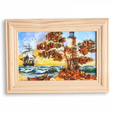 Картина Море янтарь  8х12 смКартины<br>Картина Море янтарь  8х12 см<br><br>kit: None