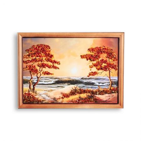 Картина Море янтарь  21х30 смКартины<br>Картина Море янтарь  21х30 см<br><br>kit: None