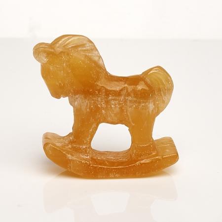 Лошадка кальцит желтый 5 см