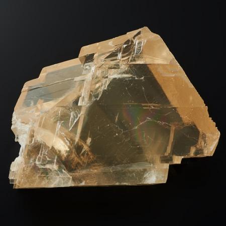 Образец оптический кальцит желтый  M