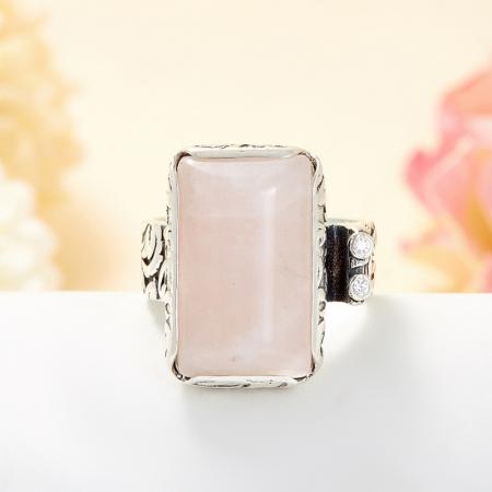 Кольцо розовый кварц  (серебро 925 пр.) размер 19Розовый кварц<br>Кольцо розовый кварц  (серебро 925 пр.) размер 19<br><br>kit: None