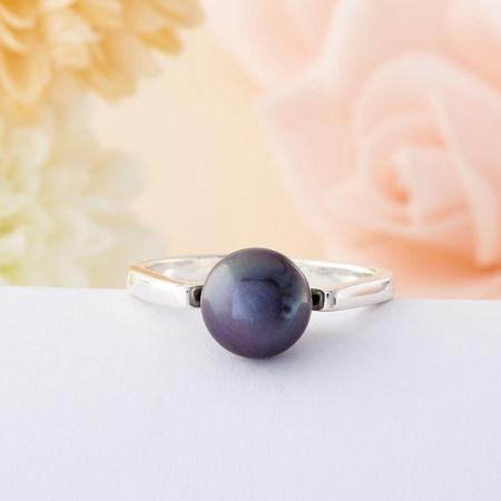 Кольцо жемчуг черный  (серебро 925 пр.) размер 18,5Жемчуг<br>Кольцо жемчуг черный  (серебро 925 пр.) размер 18,5<br><br>kit: None