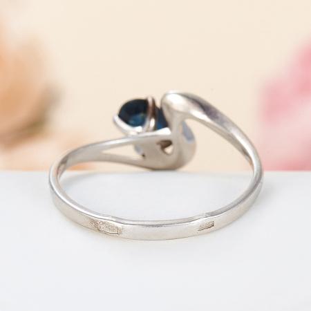 Кольцо сапфир  огранка (серебро 925 пр.) размер 17,5