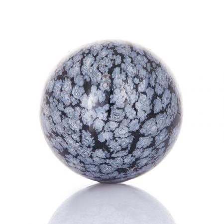 Шар снежный обсидиан  3,5 см
