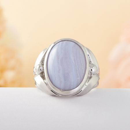 Кольцо агат  (серебро) размер 17,5