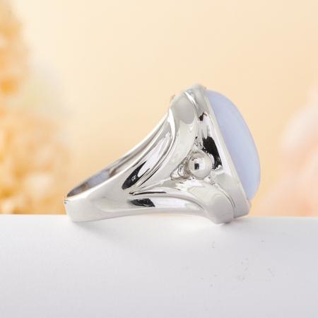 Кольцо агат  (серебро) размер 20