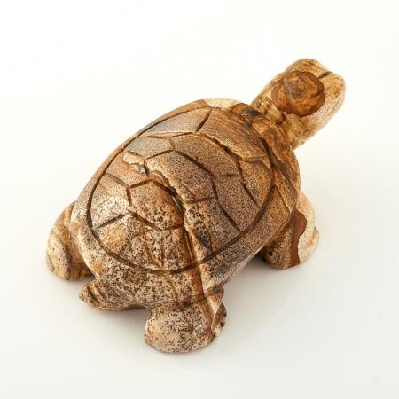 Черепаха яшма рисунчатая  8 смЯшма<br>Черепаха яшма рисунчатая  8 см<br><br>kit: None