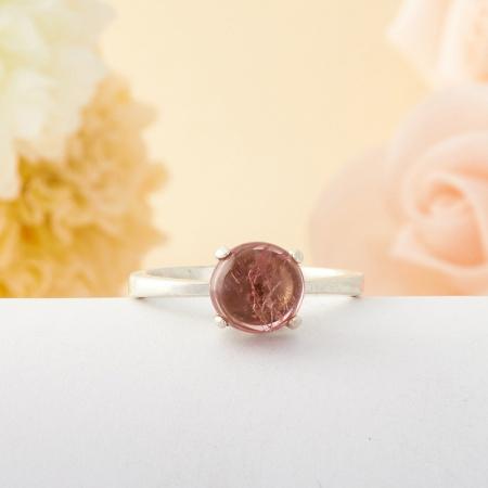 Кольцо турмалин  (серебро)  размер 18