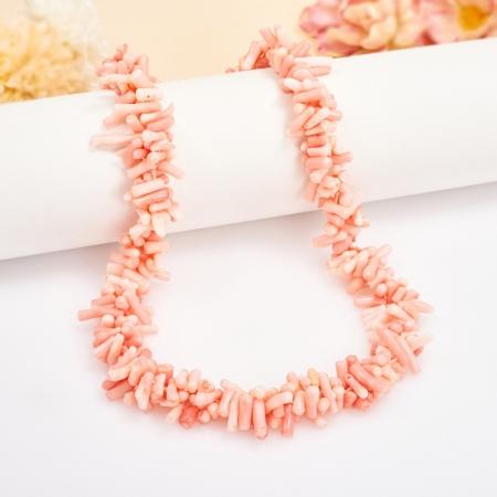Бусы коралл розовый  49 см