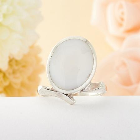 Кольцо перламутр (серебро)  размер 18,5