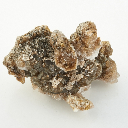 Друза кварц, апофиллит на андрадите Дальнегорск  50х40х28 мм