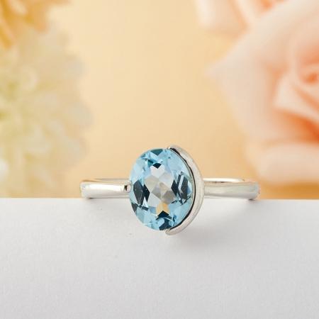 Кольцо топаз  огранка (серебро) размер 18