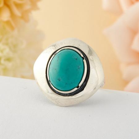 Кольцо бирюза Тибет (серебро)  размер 18