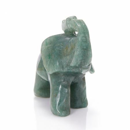 Слон авантюрин зеленый  8 см