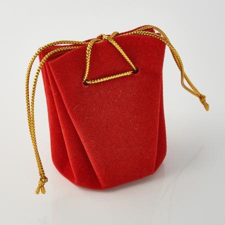 Подарочная упаковка универсальная (мешочек объемный красный) 40х40х60 мм