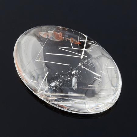 Кабошон рутиловый кварц  15*22 мм