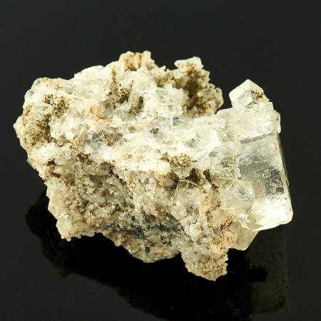 Друза оптический флюорит с хлоритом и кварцем   (Дальнегорск) 4,5 см