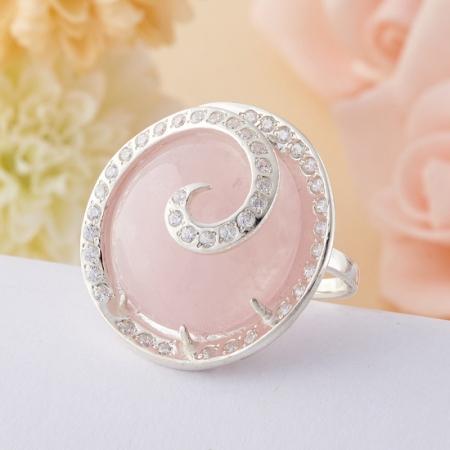 Кольцо розовый кварц  (серебро 925 пр.) размер 20,5Розовый кварц<br>Кольцо розовый кварц  (серебро 925 пр.) размер 20,5<br><br>kit: None