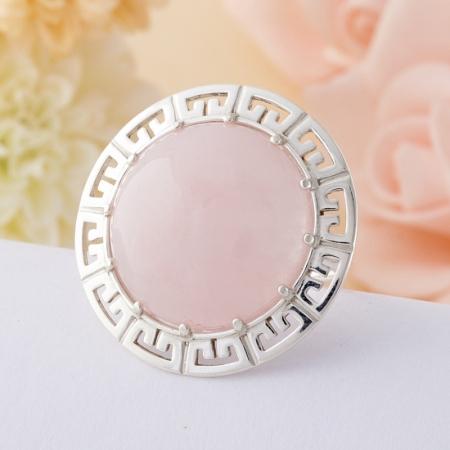 Кольцо розовый кварц  (серебро 925 пр.)  размер 17Розовый кварц<br>Кольцо розовый кварц  (серебро 925 пр.)  размер 17<br><br>kit: None