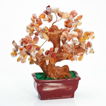 Дерево счастья сердолик  15 см