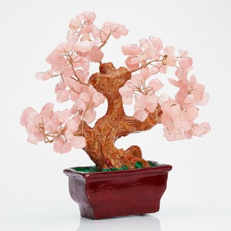 Дерево счастья розовый кварц  15 смРозовый кварц<br>Дерево счастья розовый кварц  15 см<br><br>kit: None
