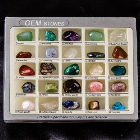 Коллекция камней и минералов №1 (1-1,5 см)Коллекции из камней<br>Коллекция камней и минералов №1 (1-1,5 см)<br><br>kit: None