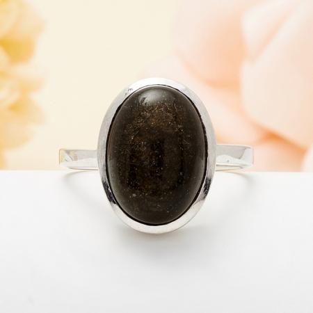 Кольцо обсидиан золотистый  (серебро 925 пр.) размер 18Обсидиан<br>Кольцо обсидиан золотистый  (серебро 925 пр.) размер 18<br><br>kit: None