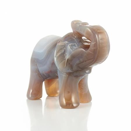 Слон агат серый  5 см